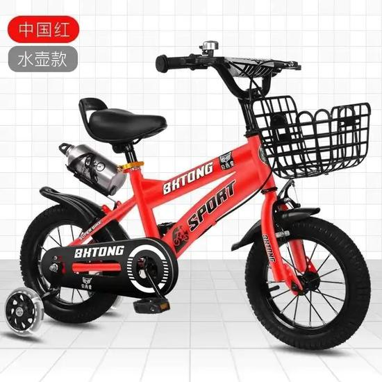 儿童自行车童车脚踏车单车男女宝宝两轮车封面大图